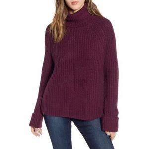 NEW BP Cozy Turtleneck Sweater Purple size XS
